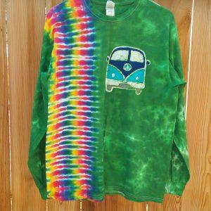 Large Hippie Bus Batik Tie Dye Long Sleeve ⋆ Violablu's Tie Dyes