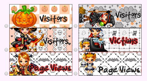 Halloween Web Page Counters